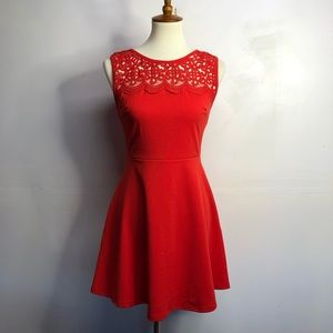 Lulus red lace detail medium dress